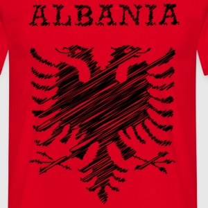 Albania, scribble black Tee shirts - T-shirt Homme