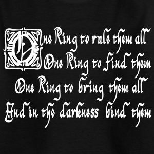 One Ring Shirts - Teenage T-shirt