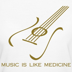 Music is like medicine - Frauen Bio-T-Shirt