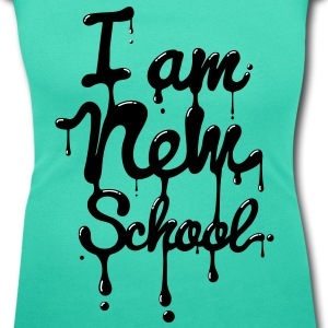 I am new school (Swag,Dope,Hipster) T-Shirts - Women's Scoop Neck T-Shirt