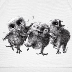 three crazy owls - Basebollkeps