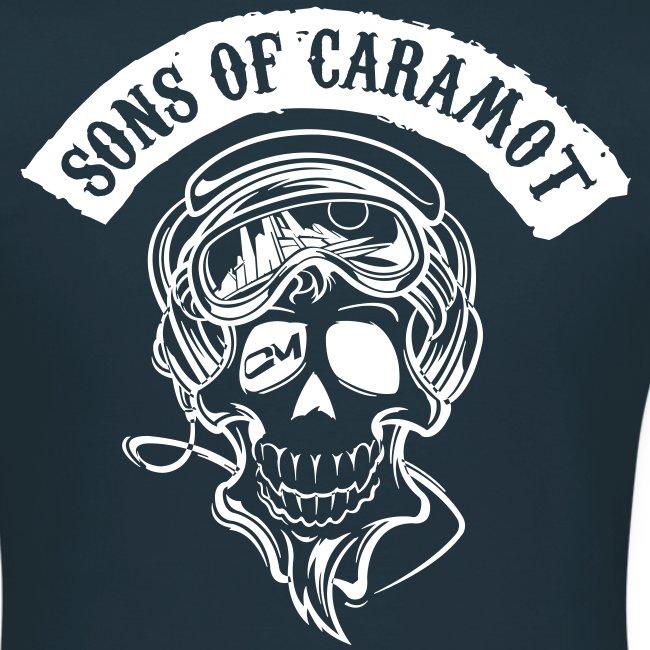 """tee shirt femme """"Sons of Caramot"""" bleu"""