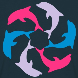 Dolphin Circle T-shirts - Herre-T-shirt