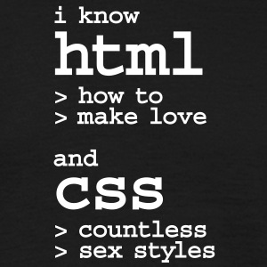 i know html and css countless sexy styles nerd T-S - Männer T-Shirt