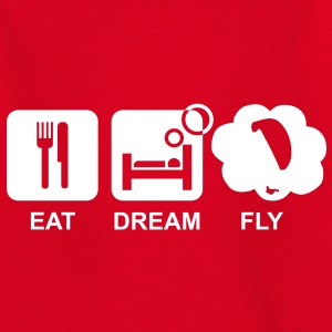 eat dream fly 2 kid - Kinder T-Shirt