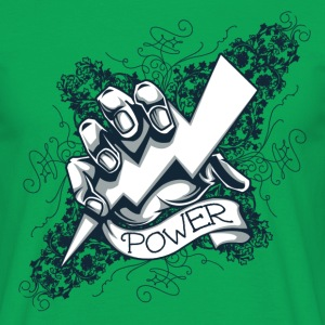 Kelly green power  blitz tattoo T-Shirts T-Shirts - Men's T-Shirt