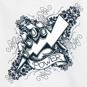 power  blitz tattoo  Skjorter - T-skjorte for barn