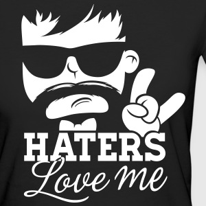 Like a haters love hate me moustache boss sir meme Camisetas - Camiseta ecológica mujer