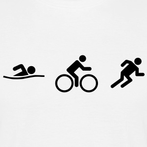 Swim Bike Run Triathlon top - Men's T-Shirt