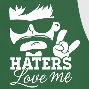 Like a haters love hate me moustache boss sir Tabliers - Tablier de cuisine