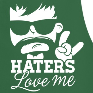 Like a haters love hate me moustache boss sir meme  Aprons - Cooking Apron