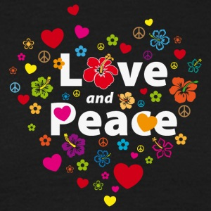 Männer-T-Shirt Love and Peace - Männer T-Shirt