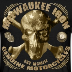 Milwaukee iron skull vintage motorcycle t-shirt