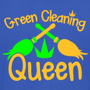 GREEN CLEANING Queen! eco friendly cleaner T-Shirts - Men's V-Neck T-Shirt