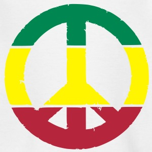 Peace and love rasta Tee shirts - T-shirt Enfant