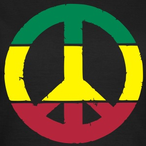 Peace and love rasta Tee shirts - T-shirt Femme