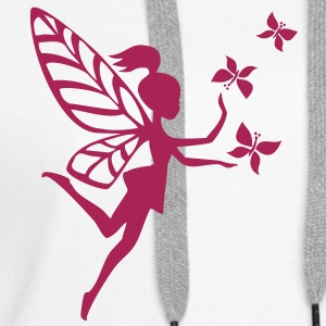 Elfe, Fee, Schmetterlinge, Magie, Zauberei Sweat-shirts - Sweat-shirt à capuche Premium pour femmes