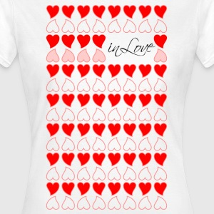 Frauenshirt Herzen in Love - Frauen T-Shirt