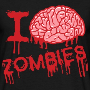i love zombies - T-shirt Homme