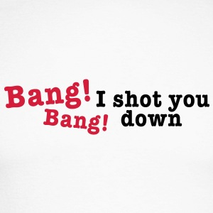 bang bang i shot you down 2c Long sleeve shirts - Men's Long Sleeve Baseball T-Shirt