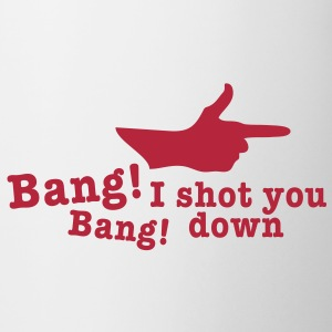 bang bang i shot you down fingergun Bottles & Mugs - Mug