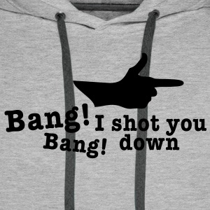 bang bang i shot you down fingergun Pullover & Hoodies - Männer Premium Hoodie