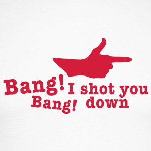 bang bang i shot you down fingergun Long sleeve shirts - Men's Long Sleeve Baseball T-Shirt
