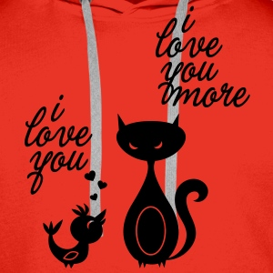 Funny I love heart you valentine Valentines Day Hoodies & Sweatshirts - Men's Premium Hoodie