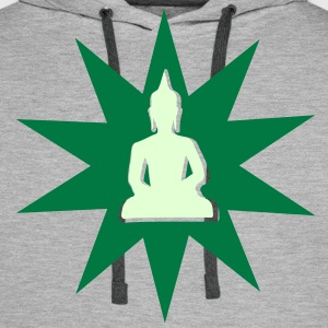 Buddha shining aura Sweat-shirts - Sweat-shirt à capuche Premium pour hommes