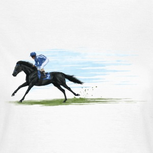 Black Racehorse T-Shirts - Women's T-Shirt