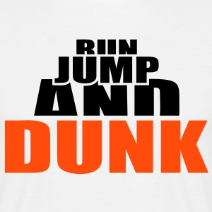 Run Jump and Dunk  Basketball Ball Dunking Magliette - Maglietta da uomo
