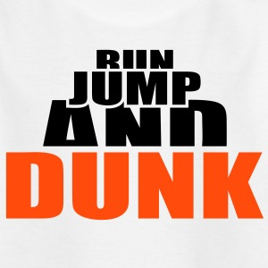 Run Jump and Dunk Ball Basketball Dunking Skjorter - T-skjorte for barn