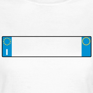 license plate Italy_g1 T-Shirts - Women's T-Shirt