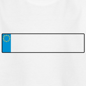 license plate europe_g1 Shirts - Teenage T-shirt