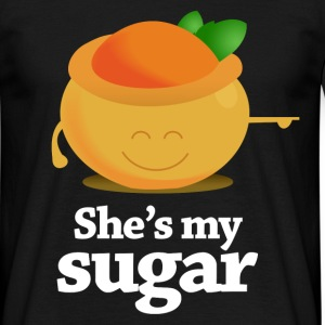 Zwart shes_my_sugar T-shirts - Mannen T-shirt