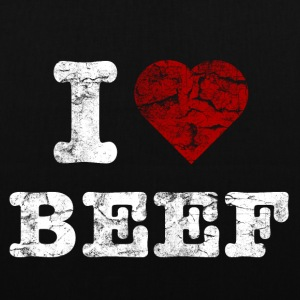 I Love BEEF vintage light Bags  - Tote Bag