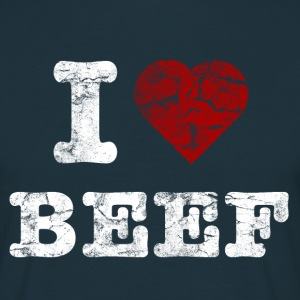 I Love BEEF vintage light Tee shirts - T-shirt Homme