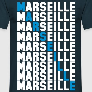 Marseille grid Tee shirts - T-shirt Homme