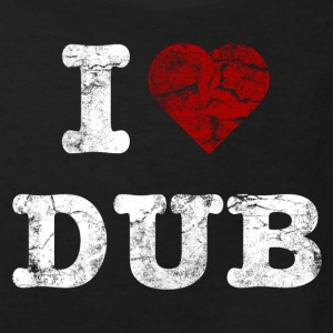 I Love DUB vintage light Shirts - Kinderen Bio-T-shirt