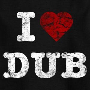 I Love DUB vintage light Camisetas - Camiseta niño