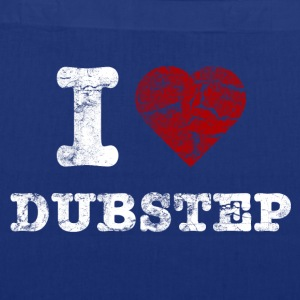 I Love DUBSTEP vintage light Sacs - Tote Bag