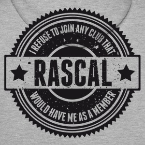 Vintage RASCAL quotes - Not in that club Felpe - Felpa con cappuccio premium da uomo