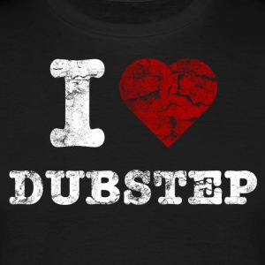 I Love DUBSTEP vintage light T-shirts - Mannen T-shirt