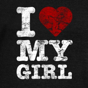 I Love my GIRL vintage light Hoodies & Sweatshirts - Women's Boat Neck Long Sleeve Top