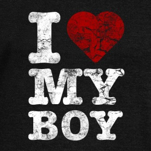 I Love my BOY vintage light Sweat-shirts - Pull Femme col bateau de Bella