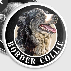 Border Collie 002 Buttons - Buttons medium 32 mm