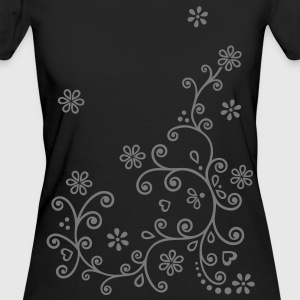 floral Mehndi Designs Flowers blossoms T-Shirts  - Women's Organic T-shirt