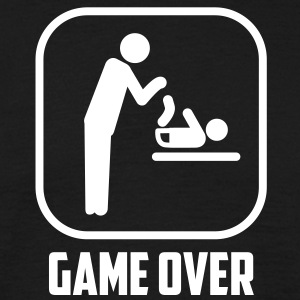 vader papa game over T-shirts - Mannen T-shirt