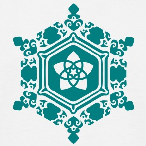 water crystal love with Venus pentagram / Emoto T-Shirts - Männer T-Shirt