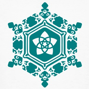 water crystal love with Venus pentagram / Emoto T-Shirts - Men's Organic T-shirt